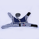 Dog Vest Dog Clothes Casual/Daily Stripe Blue Ruby