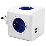 Fashion Safety Extended Power Cube Socket AND Plug 4 Outlets and 2 USB Ports Adapter With 1.5m Cable