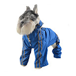 Dog Rain Coat Dog Clothes Casual/Daily Solid Blue Green Ruby Yellow