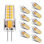 10PCS BRELONG G4 20*2835SMD 270-300LM Warm/Cool White AC/DC 10-16V Waterproof LED Bi-pin Lights