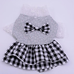 Dog Dress Dog Clothes Casual/Daily Princess Ruby Black