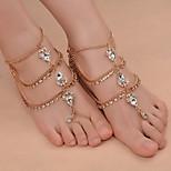 Women's Anklet/Bracelet Iron(nickel plated) Rhinestones Alloy Fashion Drop Jewelry 147 Daily Outdoor clothing Going out 1 pcs