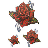 Temporary Tattoos Hand Body Flower Series 3D Rose Waterproof Tattoos Stickers Non Toxic Glitter Large Fake Tattoo Halloween Gift 22*15cm
