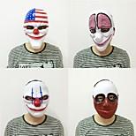 Новая мода 1pc pvc страшная маска для клоунов маски для Хэллоуина для антифазных туш туши для костюмов маскарада карнавала