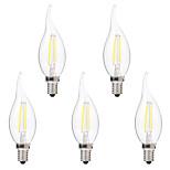 2W LED лампы накаливания C35 2 COB 200 lm Тёплый белый Белый Декоративная AC 220-240 V 5 шт.