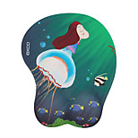 EXCO MSP038 12 * 25 * 1CM Blue Jellyfish 3D Soft Comfort Non-Slip PU Material Silicone Mouse Pad Bracers