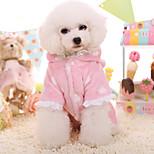 Собака Толстовки Одежда для собак Сохраняет тепло Кружева