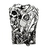 Temporary Tattoos Face Chest Totem Series 3D Waterproof Tattoos Stickers Non Toxic Glitter Large Fake Tattoo Body Jewelry Halloween Gift 22*15cm