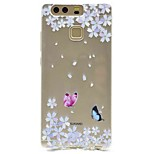 For Huawei P9 P9 Lite Pattern Case Back Cover Case Butterfly Soft TPU for P8 P8 Lite Y5 II / Honor 5