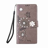 For Huawei P8 Lite(2017) P10 Lite Case Rhinestone Magnetic Embossed Pattern Butterfly Flower PU Leather for Huawei P10 P9 Lite P8 Lite