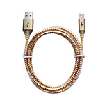 For iPhone 7 7 Plus 6s 6 Plus SE 5s 5  iPad Pro / Air /Mini  MFI 3.3ft / 100CM Certified Braided Lightning Charge USB Cable - Gold