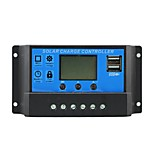 Sol kontrol oplader 10a med dual usb output 5v mobil oplader 12 / 24v solpanel batteri opladningsregulator 10 ampere y-sol