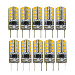 3W Двухштырьковые LED лампы T 64 SMD 3014 200-300 lm Тёплый белый Декоративная V 10 шт.