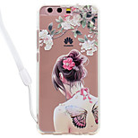 Case For Huawei P10 Lite P10 Butterfly Sexy Lady Pattern Acrylic Backplane and TPU Edge Materia Neck Lanyard P9 Lite P8 Lite 2017 P8 Lite