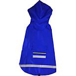 Собака Дождевик Одежда для собак На каждый день Сплошной цвет Красный Синий