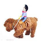 Собака Костюмы Одежда для собак Косплей Джинсы Желтый Синий Хаки