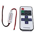 Hkv® trådløs mini LED controller dimmer 11key rf fjernbetjening til single color led strip lys dc 5-24v
