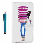 Para el caso del cuerpo de la cubierta del caso con el cuero duro de la PU de la mariposa de la aguja para el tacto 5 del tacto 5 de iPod