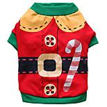 Собака Костюмы Одежда для собак Косплей Рождество Носки детские Красный