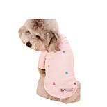 Собака Футболка Одежда для собак На каждый день Цветочные/ботанический Серый Синий Розовый