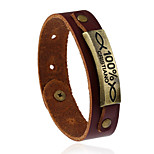 Жен. Муж. Кожаные браслеты Мода Кожа Геометрической формы Бижутерия Назначение Свадьба Для вечеринок Спорт