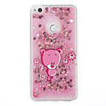 For Huawei P9 Lite P8 Lite Case Cover Bear Pattern Flash Powder Quicksand TPU Material Phone Case P8 Lite (2017)