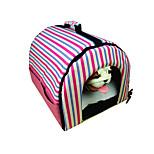 Кошка Собака Переезд и перевозные рюкзаки Животные Корпусы Компактность Леопард В полоску Красный Цвет-леопард