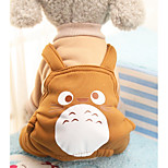 Dog Costume Coat Clothes/Jumpsuit Pants Dog Clothes Party Casual/Daily Cosplay Fashion Halloween Animal Ruby Coffee Purple