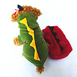 Собака Костюмы Одежда для собак Косплей Животные Желтый Красный Зеленый