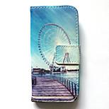 Kotelo samsung galaxy s4 mini kotelon kannen kortin haltija lompakko, jossa jalusta flip kuvio koko kehon kotelo kaupunkikuva kova pu