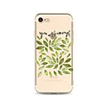 Чехол для iphone 7 плюс 7 обложка прозрачный узор задняя крышка чехол слово / фраза дерево мягкая tpu для iphone 6s плюс 6 плюс 6s 6 se 5s