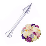 Baking Pastry Cone Holder Cake Tool Piping Rod Icing Cream Flower Roses Cake Decoration Tools Sticks Aluminium Alloy Piping Rod