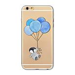Etui til iphone 7 plus 7 cover gennemsigtigt mønster bagcover case cartoon animal balloon soft tpu til iphone 6s plus 6 plus 6s 6 se 5s 5c