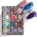 12 Декор для нейл-арта горный хрусталь жемчуг макияж Косметические Ногтевой дизайн
