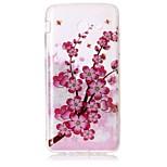 Taske til samsung galaxy j5 (2016) j3 kabinet cover blomstermønster høj transparent tpu materiale imd håndværk chiffon telefon sag j7 perx
