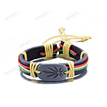 MPL Europe and the United States fashion retro color leather bracelet