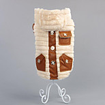 Dog Coat Dog Clothes Casual/Daily Solid Gray Beige