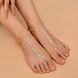Women's Anklet/Bracelet Copper Rhinestone Fashion Alphabet Shape Jewelry 147 Daily Casual Outdoor clothing Club 1 pcs