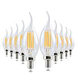 4W LED лампы в форме свечи CA35 4 COB 300-400 lm Тёплый белый Диммируемая Декоративная AC 220-240 V 10 шт.