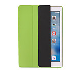 For Apple iPad Air Air2 Shockproof with Stand Flip Origami Auto Sleep/Wake Up Full Body Case Solid Color Hard PU Leather