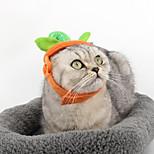 Кошка Собака Банданы и шляпы Одежда для собак Косплей Хэллоуин Сплошной цвет Оранжевый