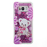 Voor Samsung Galaxy S8 Plus S8 Case Cover Bear Pattern Flash Poeder Quicksand TPU Materiaal Telefoon Hoesje S7 Rand S7 S6 Rand S6 S5