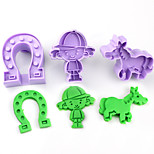 2017 New Arrival Set of 3 Horserace Symbols Cake Molds Horserace Theme Cookie/Biscuit Cutter for Fondant Cake Decorating