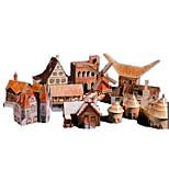 Пазлы Набор для творчества 3D пазлы Строительные блоки Игрушки своими руками Архитектура Плотная бумага