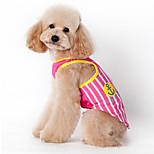 Собака Жилет Одежда для собак На каждый день Полоски Синий Розовый