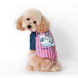 Собака Жилет Одежда для собак На каждый день Морской Синий Розовый
