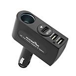 QC3.0 Компания Qualcomm сертификация Быстрая зарядка QC2.0 Несколько портов Другое 3 USB порта Только зарядное устройство DC 12V/3.1A