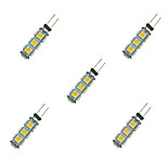 2W LED Crystal Light G4 13SMD 5050 Warm White/White DC12V 5Pcs