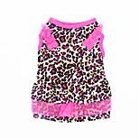 Кошка Собака Платья смокинг Одежда для собак Для вечеринки На каждый день Свадьба Леопардовый принт Цвет-леопард