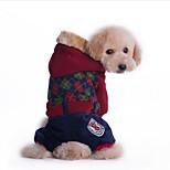 Собака Толстовки Комбинезоны Одежда для собак На каждый день Английский Красный Зеленый
